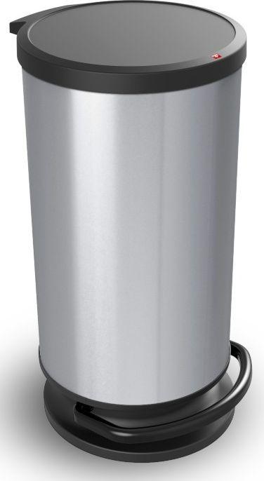 Kosz na śmieci Rotho Paso do segregacji na pedał 30L srebrny (PASO 30L sidabro) 1