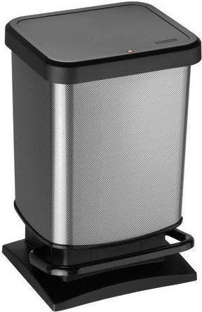 Kosz na śmieci Rotho Paso do segregacji na pedał 20L stalowy (PASO 20l juoda) 1