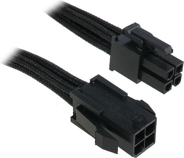 BitFenix Przedłużacz ATX12V 4-Pin 45cm - opływowy czarny ( BFA-MSC-4ATX45KK-RP ) 1