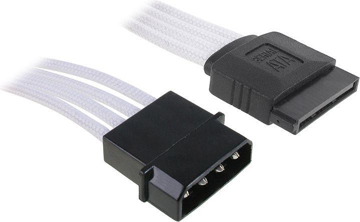 BitFenix Przejściówka Molex na SATA 45cm - opływowa biało czarna ( BFA-MSC-MSA45WK-RP ) 1