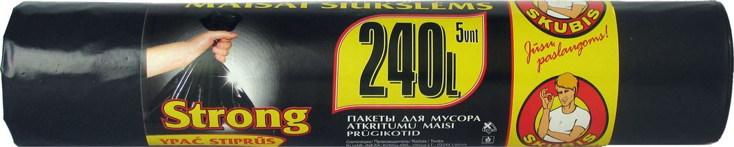 Skubis mocne worki na śmieci 240L, 5 sztuk (7626427) 1