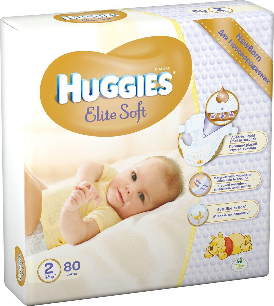 Huggies Pieluchy Elite Soft Mega r.2 80 szt. 1