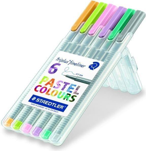Staedtler Cienkopis Triplus 0,3mm 6 kolorów pastelowych 1