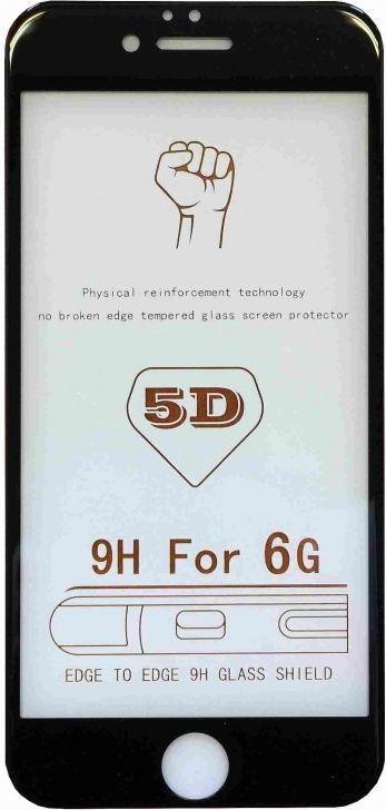 Szkło hartowane 5D iPhone 7+ czarne 1