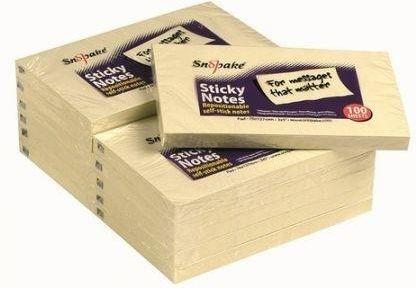 Snopake Karteczki samoprzylepne 127x76 zółte 100 kartek 1