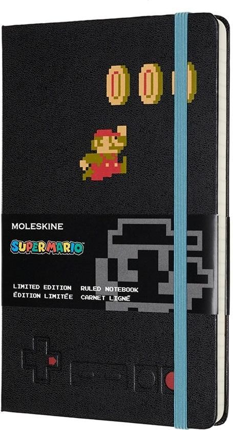 Moleskine Notes linia L Super Mario, czarny 1