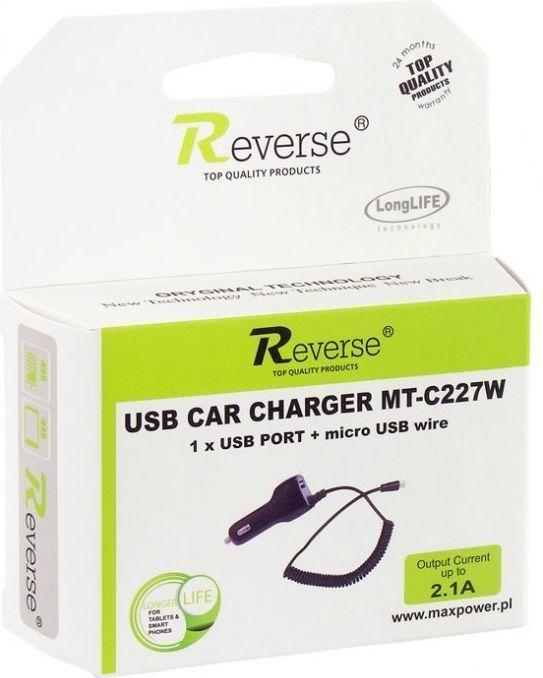 Reverse Ładowarka samochodowa REVERSE MINI 2,1A + USB C227W