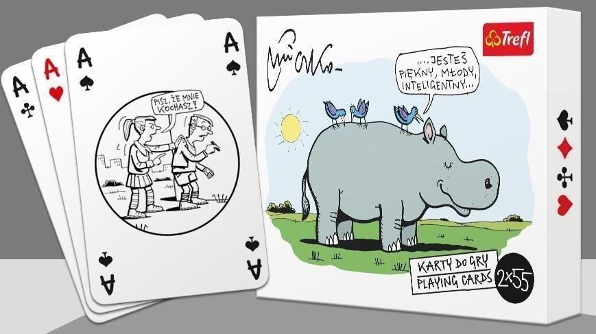 Trefl Karty - Mleczko 14923 2x55 listków 1