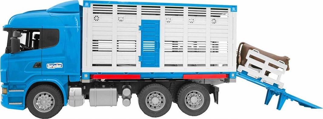 Bruder Scania R z kontenerem i figurką wołu niebieska (03549) 1