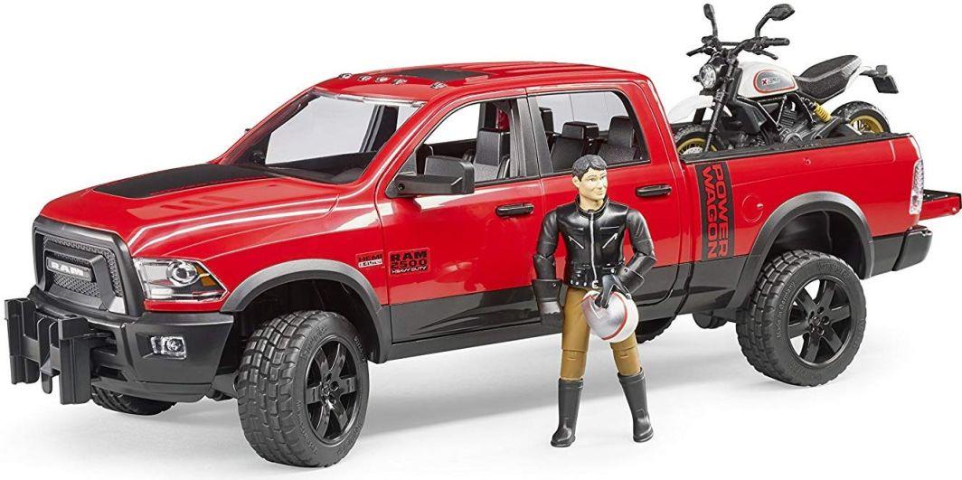Bruder Dodge RAM 2500 Power Wagon z przyczepą i motocyklem Ducati 02502 BRUDER 1