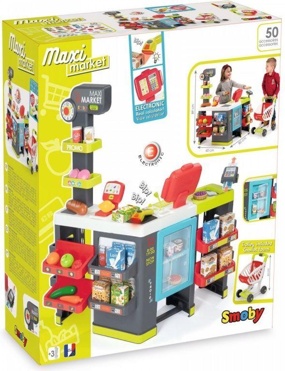 Smoby Maxi Market z wózkiem (350215) 1