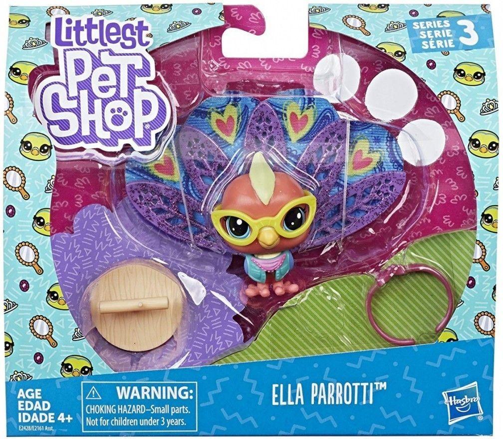 Hasbro Littlest Pet Shop Zwierzaki Premium Ella Parroti  1