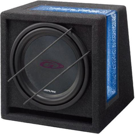 Głośnik samochodowy Alpine Głośnik niskotonowy w skrzyni bass-reflex 1