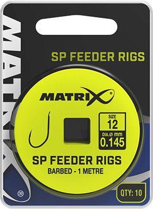 Fox Matrix Przypony z Haczykami - SP Feeder Rigs roz.10 0.145mm 1m ...