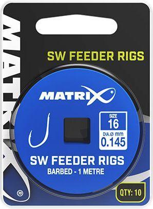 Fox Matrix Przypony z Haczykami - SW Feeder Rigs 1m roz.10 10szt ...