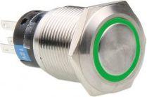Lamptron Włącznik 19mm Srebrno-zielony (LAMP-SW1912L-G) 1
