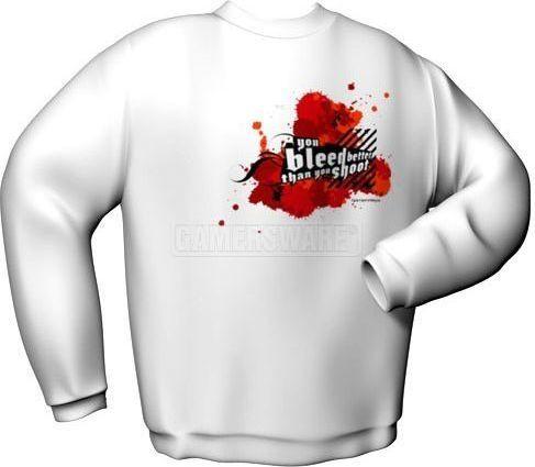 GamersWear Bluza YOU BLEED BETTER biała (M) ( 6045-M ) 1