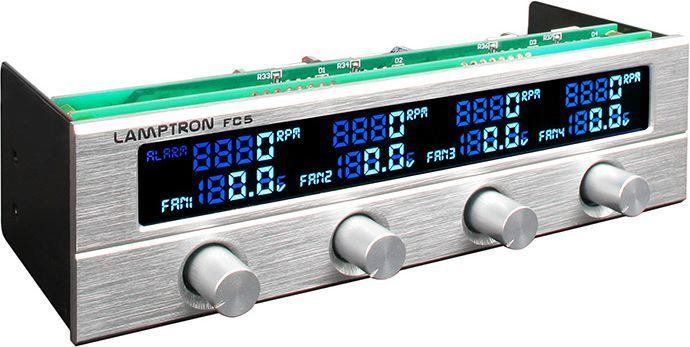 "Lamptron Panel FC5 V2 Fan Controller 5,25"" srebrny (LAMP-FC0052S) 1"