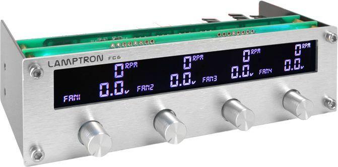 "Lamptron Panel FC6 Fan Controller 5,25"" srebrny (LAMP-FC0081S) 1"