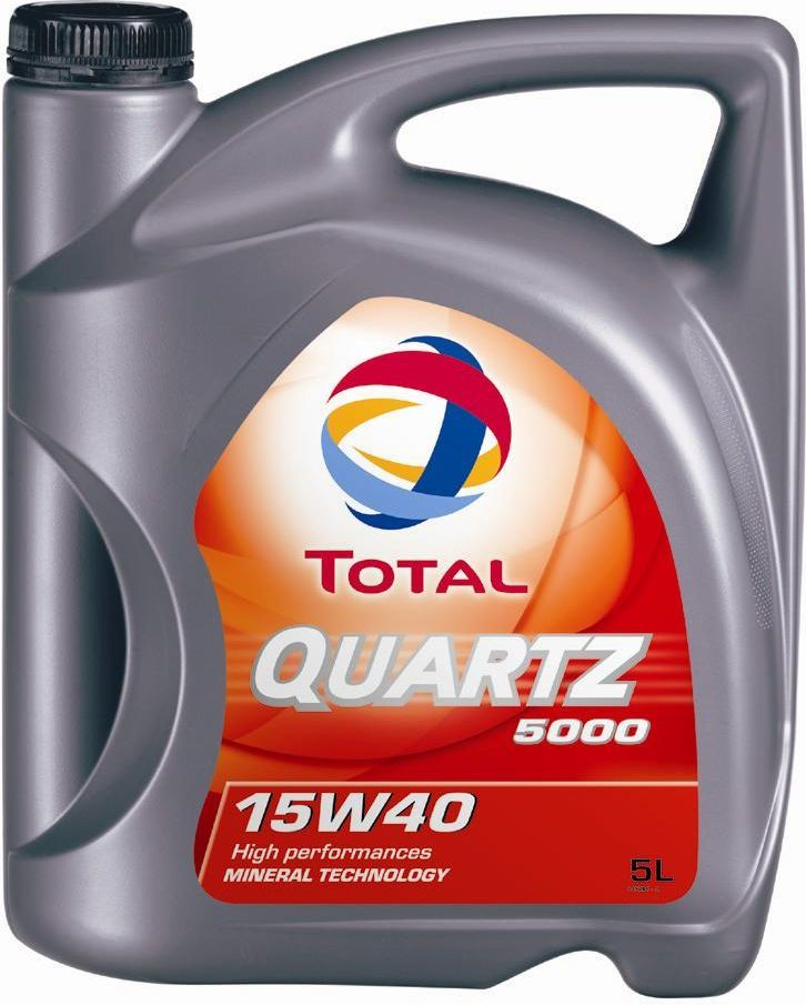 Olej silnikowy Total Quartz 5000 mineralny 15W-40 5L 1