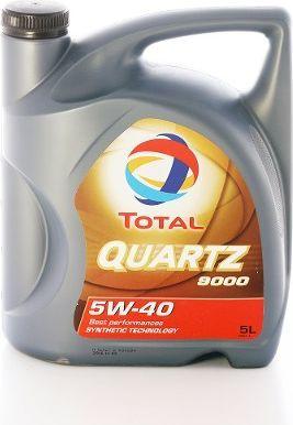 Olej silnikowy Total Quartz 9000 syntetyczny 5W-40 5L 1