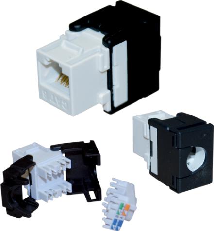 A-LAN Moduł Keystone Cat.5e UTP RJ45 beznarzędziowy (MB001) 1