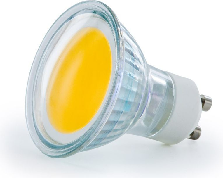 Whitenergy Żarówka LED |GU10 |COB |2.5W |230V |190Lm |ciepła biała | (08224) 1