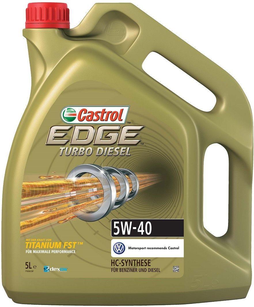 Olej silnikowy Castrol Edge Turbo Diesel syntetyczny 5W-40 5L 1
