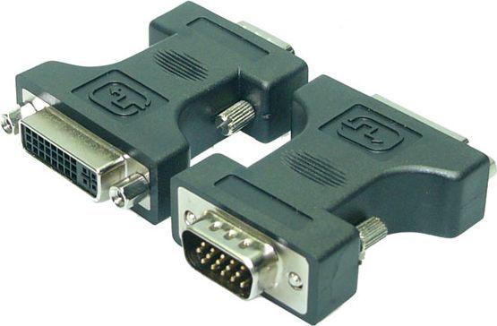 Adapter AV LogiLink DVI-I - D-Sub (VGA) czarny (AD0002) 1