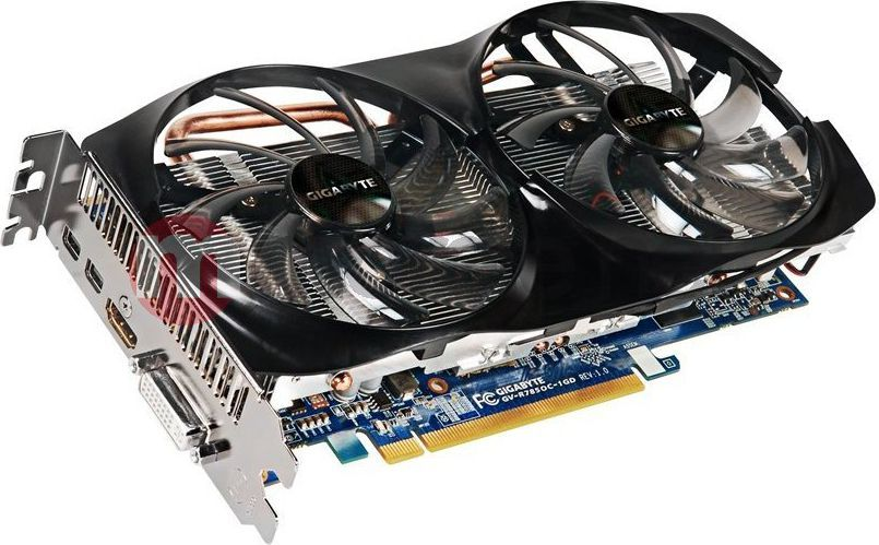Karta graficzna Gigabyte Radeon HD7850 1024MB DDR5/256bit DVI/HDMI/DP PCI-E (900/4800) (wer.OC - OverClock) (GV-R785OC-1GD) 1
