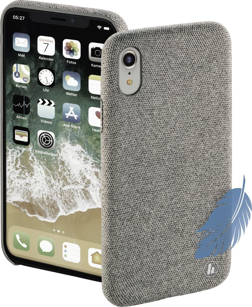 "Hama Etui ""Cozy"" do iPhone XR, jasno szary (185141) 1"