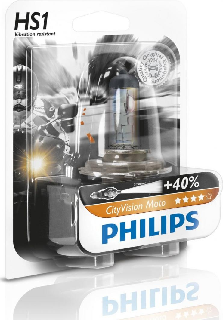Philips ŻARÓWKA HS1 12V/35/35W +40% CITYVISION MOTO. PX43T (ODPORNA NA WIBRACJE) 1