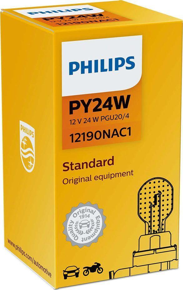 Philips ŻARÓWKA PY24W 12V/24W PGU20/4 (POMARAŃCZOWA) 1 SZT 1