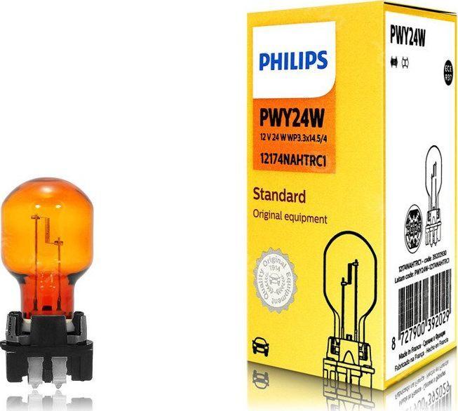 Philips ŻARÓWKA PWY24W 12V/24W WP3,3X14,5/4 POMARAŃCZOWA 1SZT 1