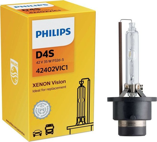 Philips ŻARÓWKA XENONOWA D4S 42V/35W +30% 4600K PHILIPS VISION 1