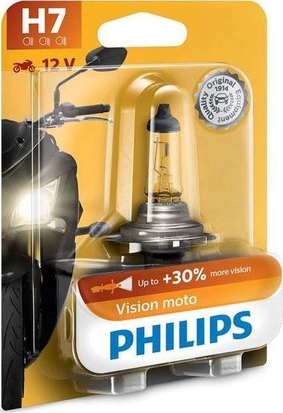 Philips ŻARÓWKA H7 12V/55W PX26D +30% VISION MOTO. 1SZT. 1