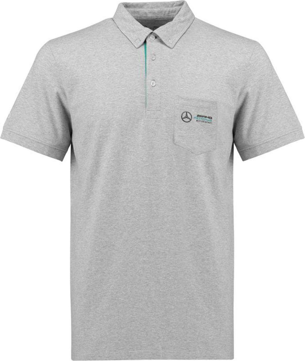 4510ef8d95cdb Mercedes AMG Petronas F1 Team Koszulka męska Mens Marl Classic Polo Shirt  szara r. XXL w Sklep-presto.pl