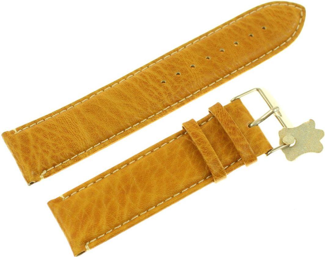 c58ca449ca0638 Diloy Pasek do zegarka skórzany pomarańczowy 24 mm (P206EL.24.10) w  Morele.net