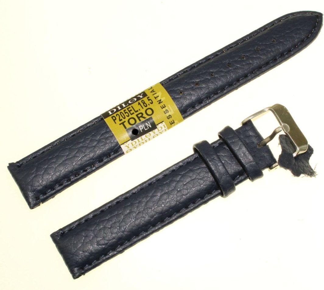 Diloy Pasek do zegarka skórzany czarny 18 mm (P205EL.18.5) 1