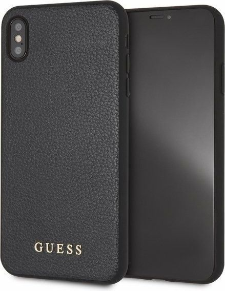 Guess Guess GUHCI65IGLBK iPhone Xs Max black /czarny hard case Iridescent 1