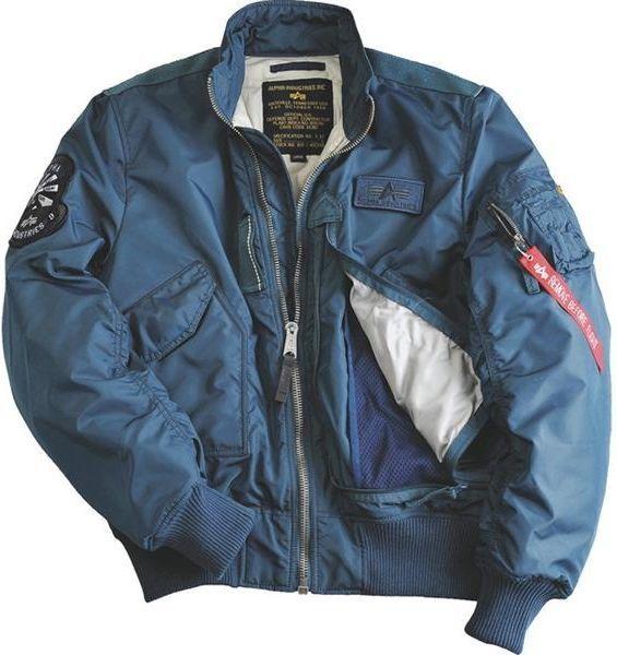 50% zniżki świetne ceny na sprzedaż online Alpha Industries Alpha Industries ENGINE 352 BOLD BLUE - Kurtka Męska  Lotnicza ID produktu: 5293736