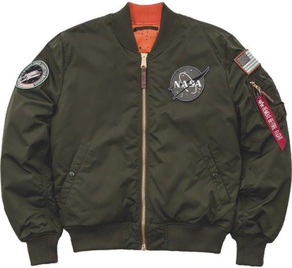 Alpha Industries Alpha Industries MA 1 VF NASA RP 257 DARK GREEN Kurtka Męska Lotnicza ID produktu: 5293742