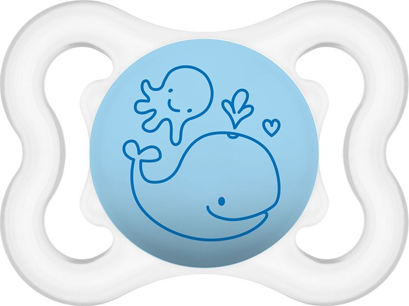 MAM Air smoczek niebieski z wielorybem 2-6M+ (MAM099) 1
