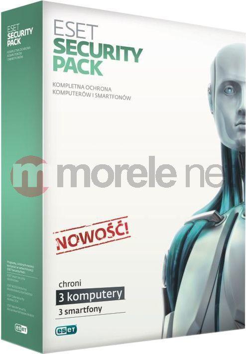 ESET Security Pack 3 stanowiska + 3 smartfony 3 lata Kontynuacja (ESP-K3D3Y) 1