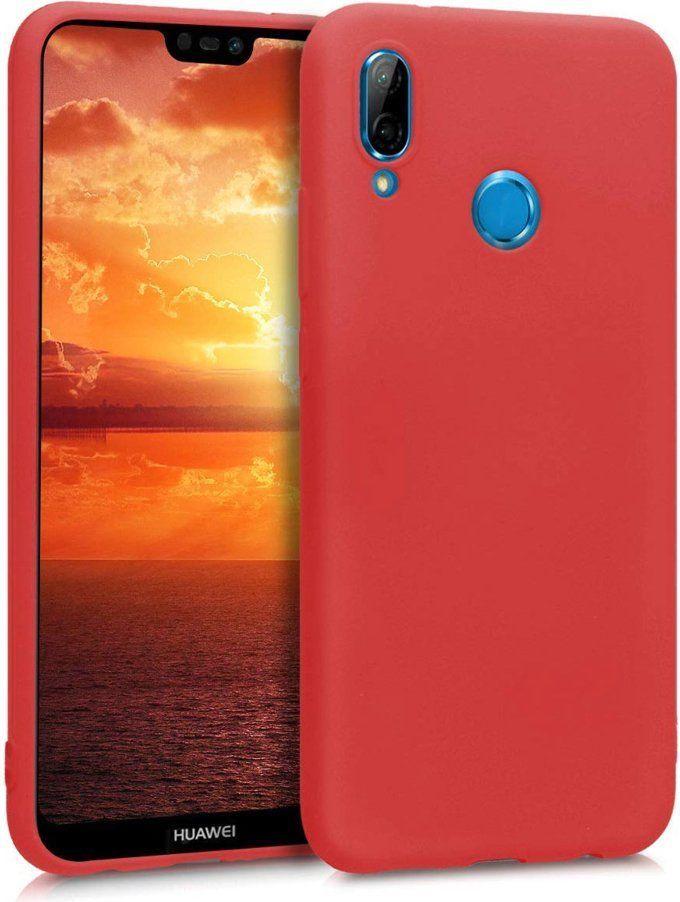 Hurtel Silicone Case elastyczne silikonowe etui pokrowiec Huawei P20 Lite czerwony 1