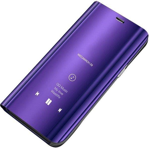 Hurtel Clear View Case futerał etui z inteligentną klapką Samsung Galaxy S9 Plus G965 fioletowy 1