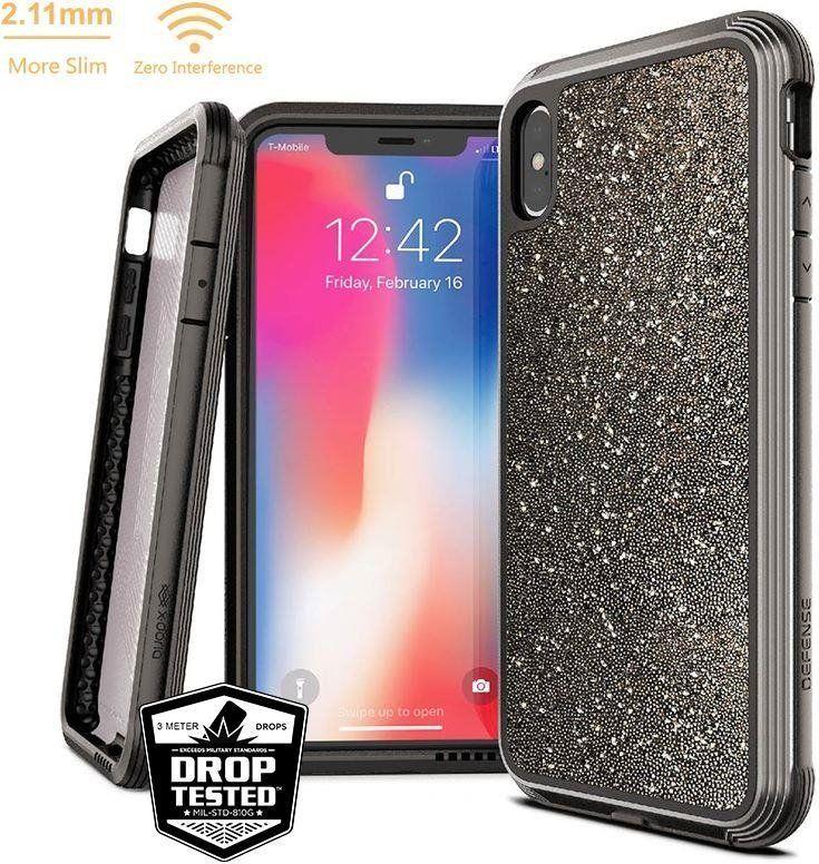 X-doria X-Doria Defense Lux - Etui aluminiowe iPhone Xs Max (Drop test 3m) (Dark Glitter) 1