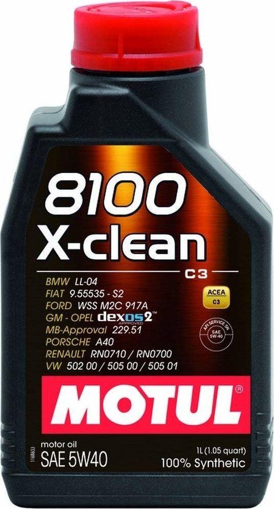 Olej silnikowy Motul OLEJ MOTUL 5W40 1L 8100 X-CLEAN C3 / 502.00 505.00 505.01 / 229.31 229.51 / DEXOS 2 / LL04 1