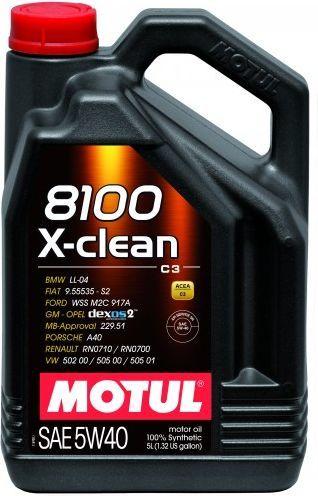 Olej silnikowy Motul 8100 X-Clean syntetyczny 5W-40 5L 1