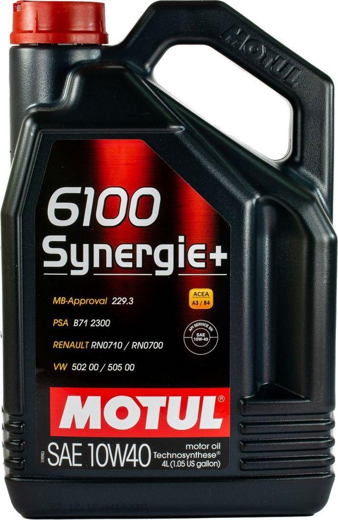 Olej silnikowy Motul OLEJ MOTUL 10W40 4L 6100 SYNERGIE+ / 502.00 505.00 / 229.3 / B71 2300 1